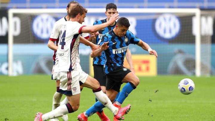 Uno scatto della sfida tra Inter e Cagliari