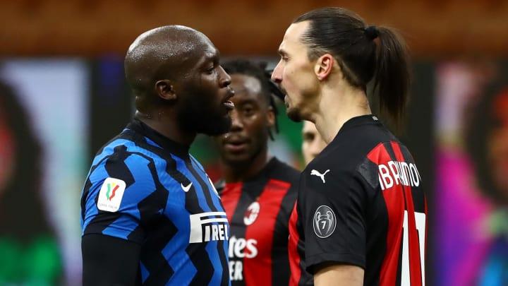 Lukaku & Ibrahimovic squared up during the Milan derby