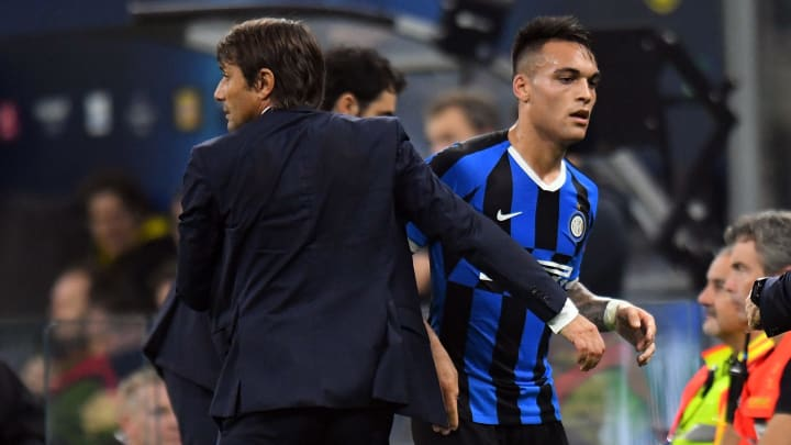 Antonio Conte et Lautaro Martinez.