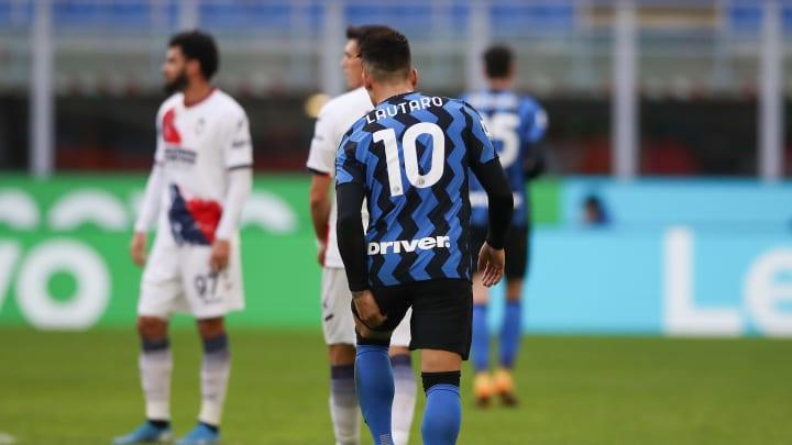 Lautaro Martinez durante il match d'andata