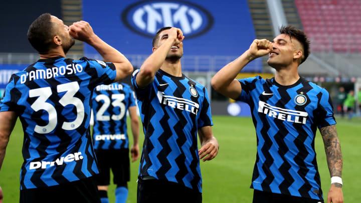 L'esultanza nerazzurra contro la Sampdoria