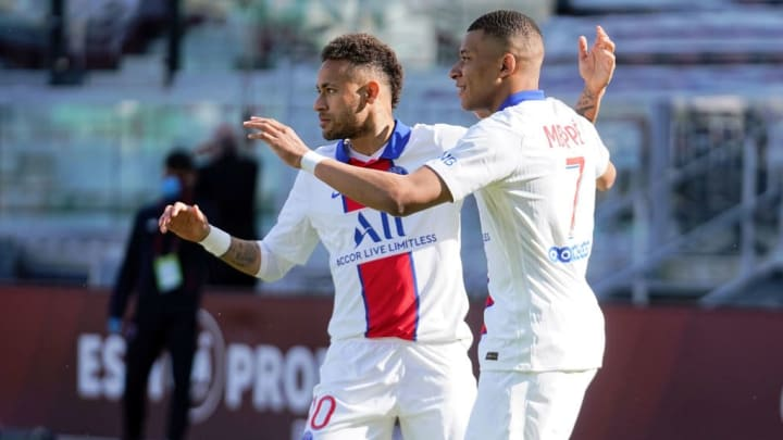 Kylian Mbappe Neymar Jr PSG Ligue 1
