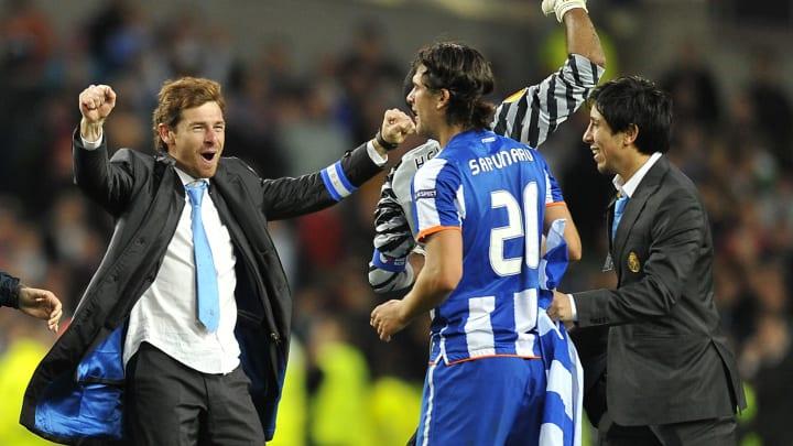 FC Porto's coach Andre Villas-Boas (L) c
