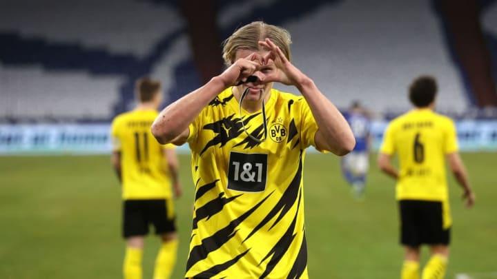 Haaland scored two goals as Dortmund blew Schalke away with a 4-0 win