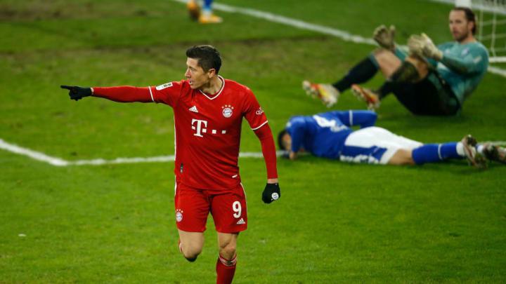 Robert Lewandowski Bayern de Munique Bundesliga Schalke 04