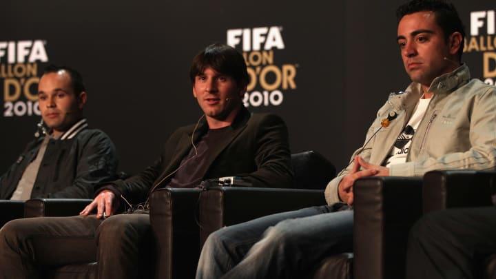 Lionel Messi, Xavi, Andres Iniesta