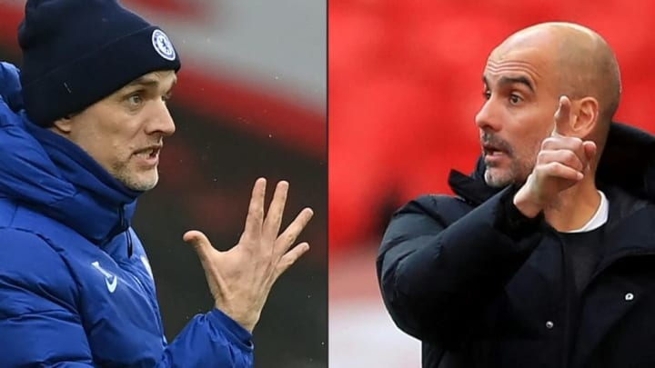 Chelsea Manchester City Thomas Tuchel Pep Guardiola Champions League