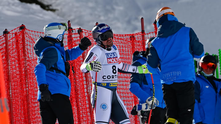 Maxence Muzaton reacts to surviving what could have been a bad crash.