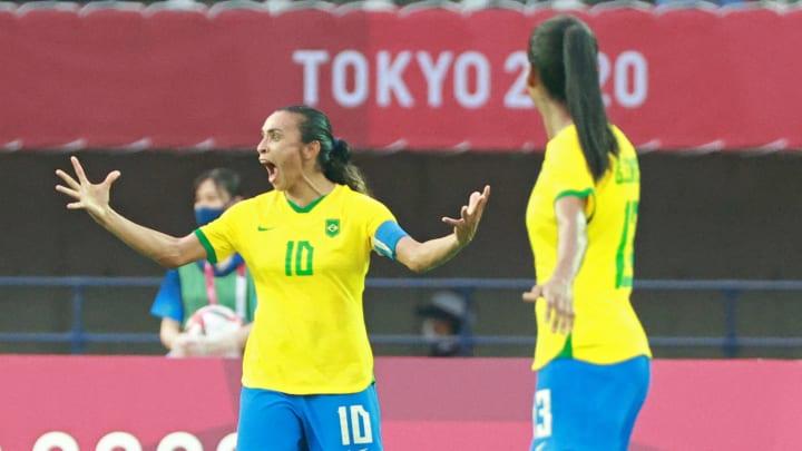 Marta foi o grande nome do Brasil na estreia olímpica