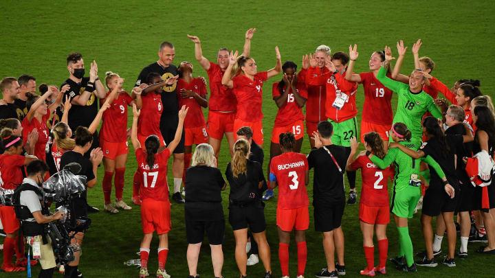 FOOTBALL-OLY-2020-2021-TOKYO-SWE-CAN - Canadá logró el oro en el fútbol femenino.