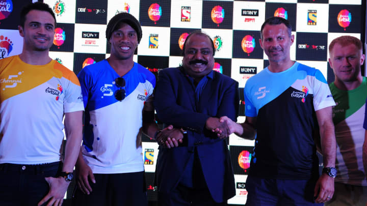 Ronaldinho, Ryan Giggs and Paul Scholes were part of the Premier Futsal tournament in India