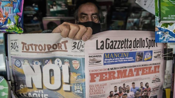 Protestos por toda a Europa causaram debandada geral na Superliga.