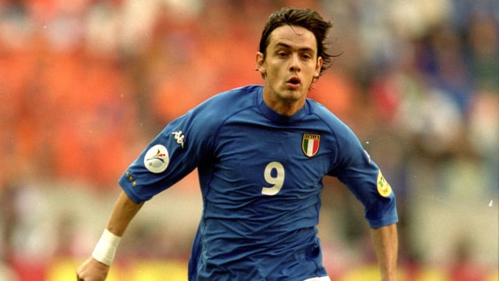 Filippo Inzaghi in Italy's iconic Euro 2000 kit