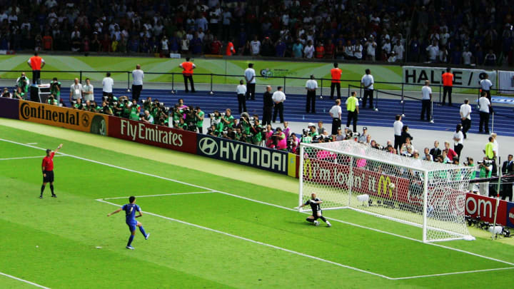 Fabio Grosso scored the winning penalty in the 2006 shootout against France