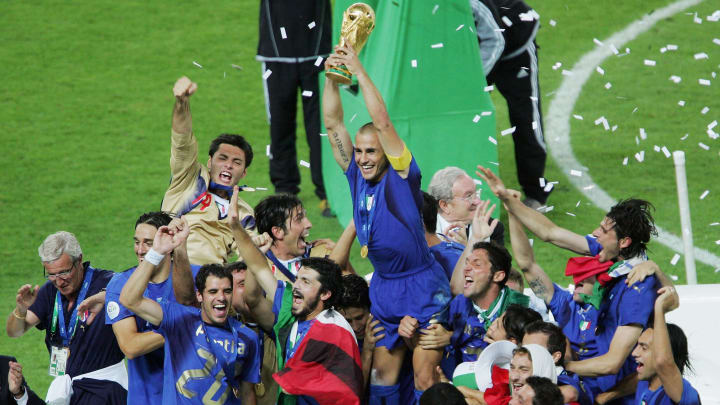 Cannavaro and Italy celebrate victory in 2006