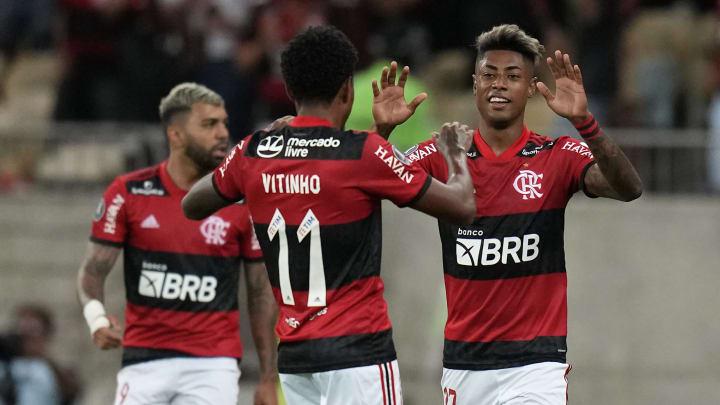 Bruno Henrique em noites de Libertadores costuma decidir