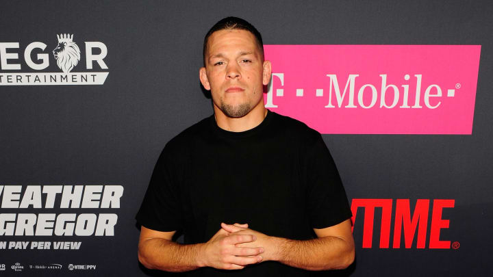 LAS VEGAS, NV - AUGUST 26:  Professional MMA fighter Nate Diaz attends the VIP party before the boxing match between boxer Floyd Mayweather Jr. and Conor McGregor at T-Mobile Arena on August 26, 2017 in Las Vegas, Nevada.  (Photo by Steven Lawton/Getty Images)