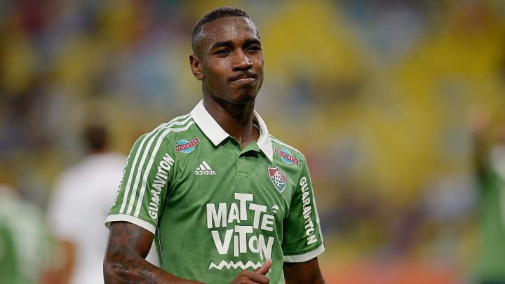 Gerson playing for former club Fluminense