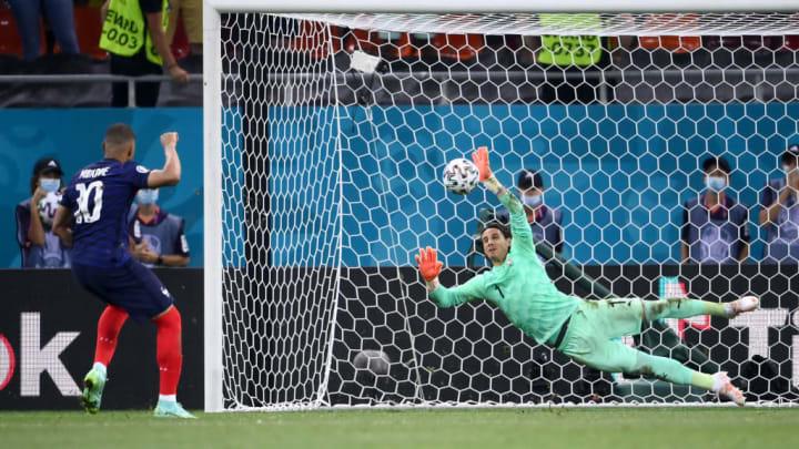 Yann Sommer, Kylian Mbappe França Suíça Eurocopa