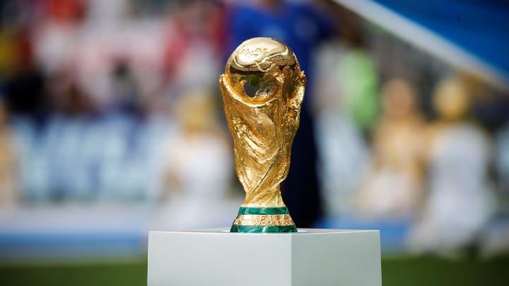 Zur Zeit in Besitz der französischen Nationalmannschaft: der WM-Pokal