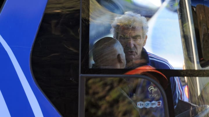 France's coach Raymond Domenech is pictu