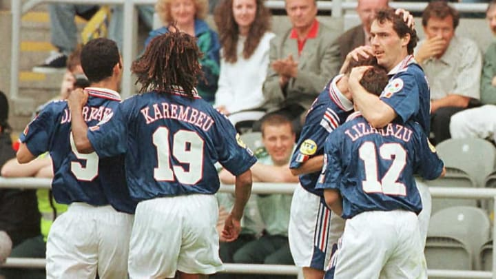 L'Equipe de France a échoué aux portes de la finale de l'Euro 1996.