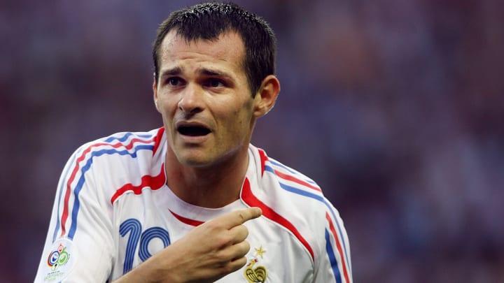 French defender Willy Sagnol gestures du