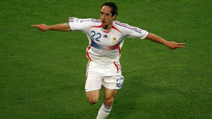 French forward Franck Ribery celebrates