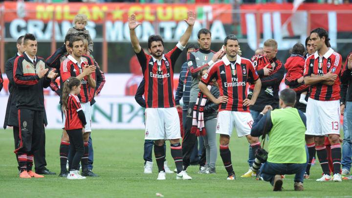 (From C) AC Milan's Gennaro Gattuso, Gia