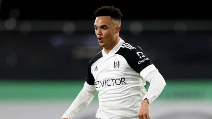 Antonee Robinson came off the bench in Fulham's defeat to Man City