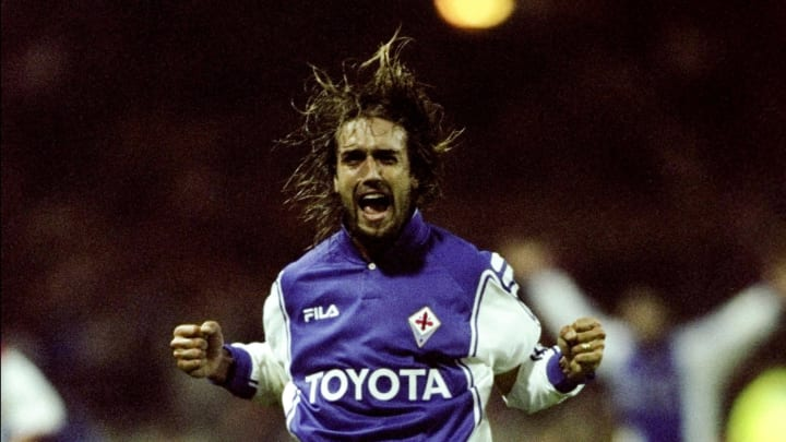 Gabriele Batistuta of Fiorentina
