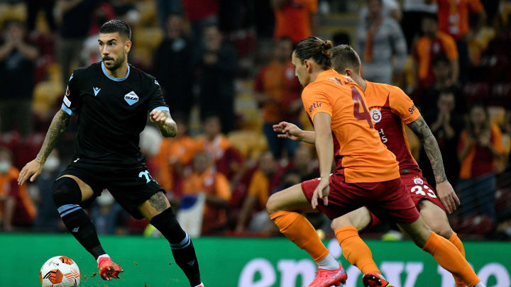 Azione di gioco in Galatasaray - Lazio