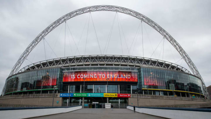 Wembley Stadium has been considered as a neutral venue.