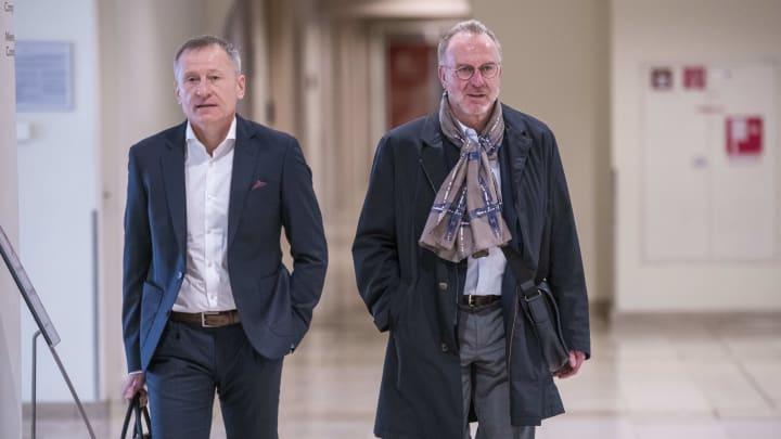 Peter Görlich mit Karl-Heinz Rummenigge
