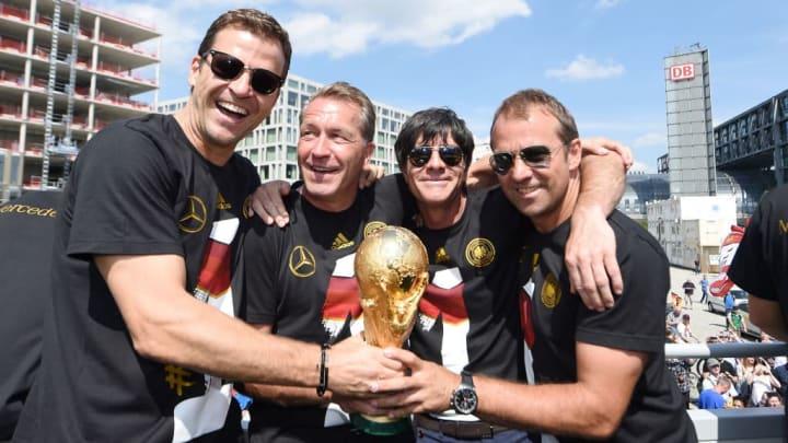 Joachim Loew, Andreas Koepke, Hans-Dieter Flick, Oliver Bierhoff