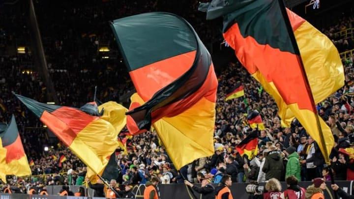 Deutsche Fans im Stadion