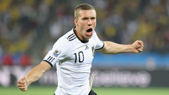 Lukas Podolski was electric for Germany