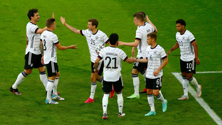 Joy for the German players