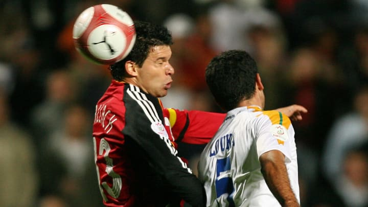Germany's captain Michael Ballack (L) fi