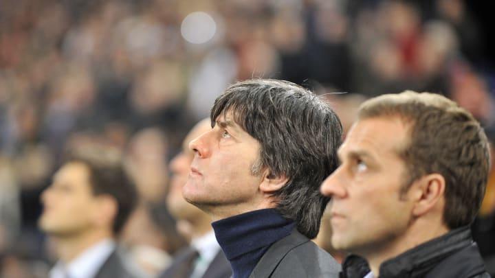 Germany's head coach Joachim Loew and Ge