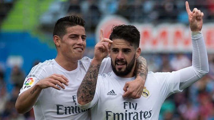 Could James Rodriguez and Isco be reunited on Merseyside?