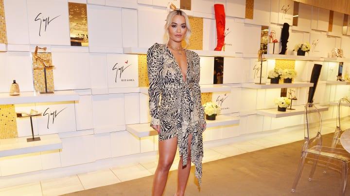 Giuseppe Zanotti And Rita Ora Launch 'Giuseppe for Rita Ora' Shoe Collection At Saks Fifth Avenue