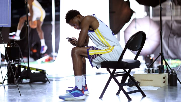 Andrew Wiggins at Golden State Warriors Media Day