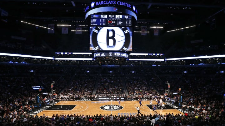 NEW YORK, NY - DECEMBER 6: General view of the Barclays Center as the Golden State Warriors play the Brooklyn Nets during an NBA basketball game on December 6, 2015 in the Brooklyn borough of New York City. The Warriors defeated the Nets 114-98. NOTE TO USER: User expressly acknowledges and agrees that, by downloading and/or using this Photograph, user is consenting to the terms and conditions of the Getty Images License Agreement. (Photo by Rich Schultz/Getty Images)