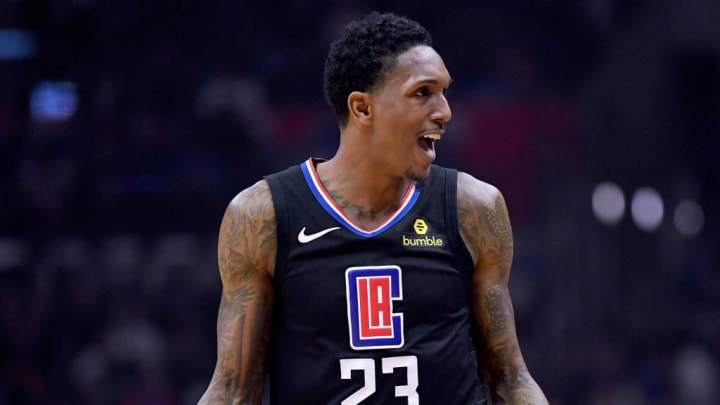 LOS ANGELES, CALIFORNIA - APRIL 26:  Lou Williams #23 of the LA Clippers reacts to a Clipper foul in the first half against the Golden State Warriors during Game Six of Round One of the 2019 NBA Playoffs at Staples Center on April 26, 2019 in Los Angeles, California. (Photo by Harry How/Getty Images)  NOTE TO USER: User expressly acknowledges and agrees that, by downloading and or using this photograph, User is consenting to the terms and conditions of the Getty Images License Agreement.