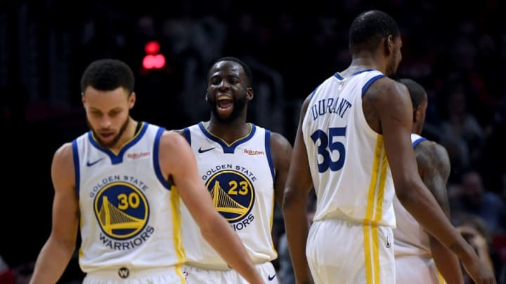 Draymond Green, Stephen Curry, Kevin Durant