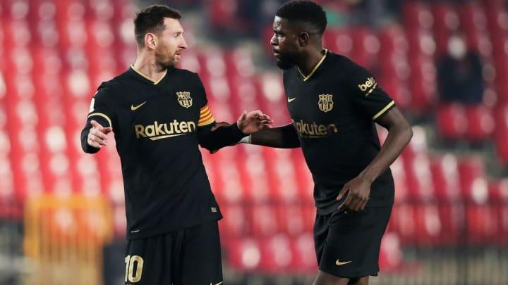 Lionel Messi und Samuel Umtiti.