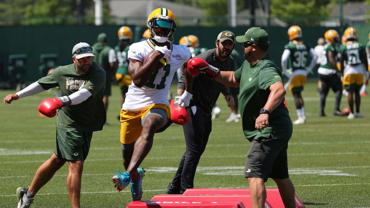 Devin Funchess at training camp.