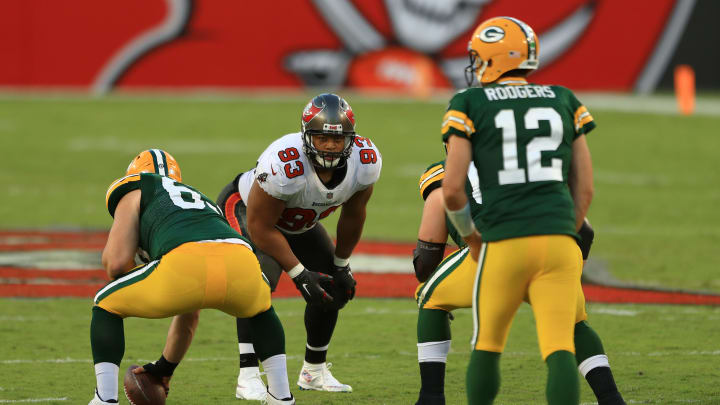 Ndamukong Suh and Aaron Rodgers, Green Bay Packers v Tampa Bay Buccaneers