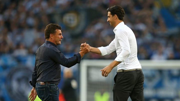 Müssen die Quadratur des Kreises hinbekommen: Trainer Dieter Hecking und Sportvorstand Jonas Boldt